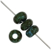 1/0 Rocaille 6.6mm Opaque blue/marble